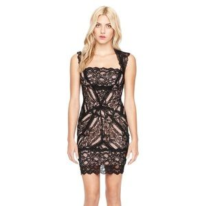 Nicole Miller Eva Black Lace Dress size small